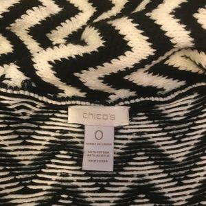 Chico's Sweaters - Chico's cream & black chevron print cardigan EUC